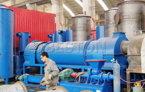 Continuous rice hull carbonizer machine