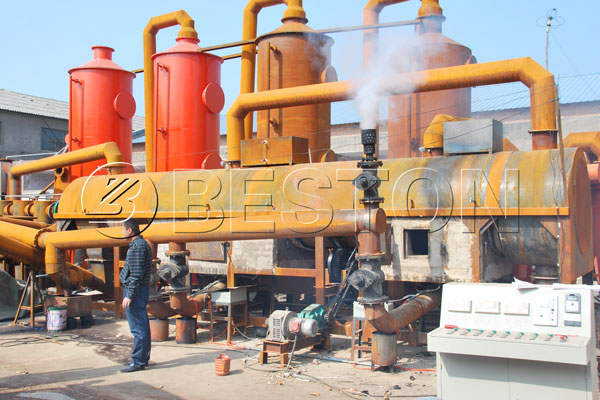 Beston Coconut Shell Charcoal Making Machine for Sale